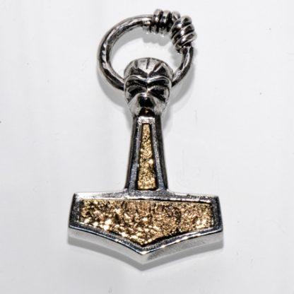 Thors Hammer med ring og guld