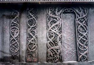 Nordportal af stavkirke i Urnes
